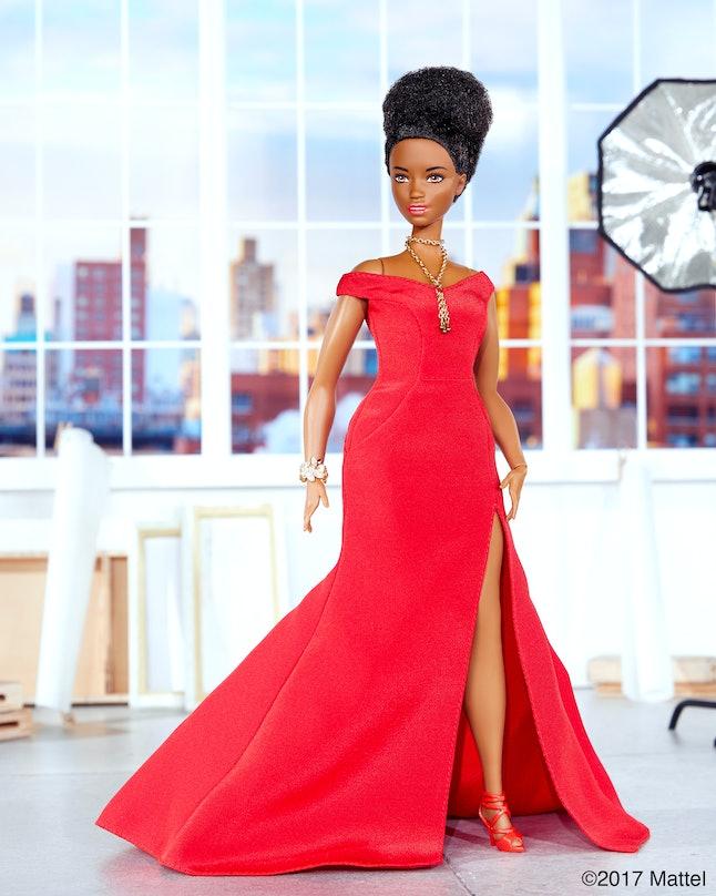 Leslie Jones, in the form of a Barbie