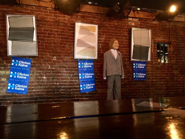 A Hillary Clinton mannequin at a campaign event in Denver.