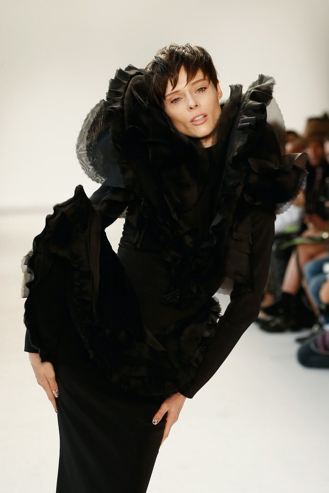 Model Coco Rocha opens Christian Siriano's SS18 runway show