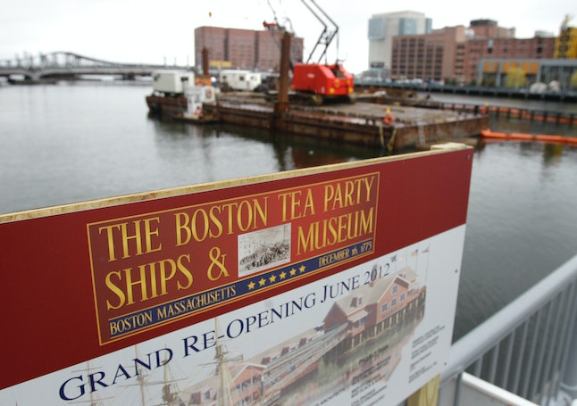 The site of the Boston Tea Party Museum