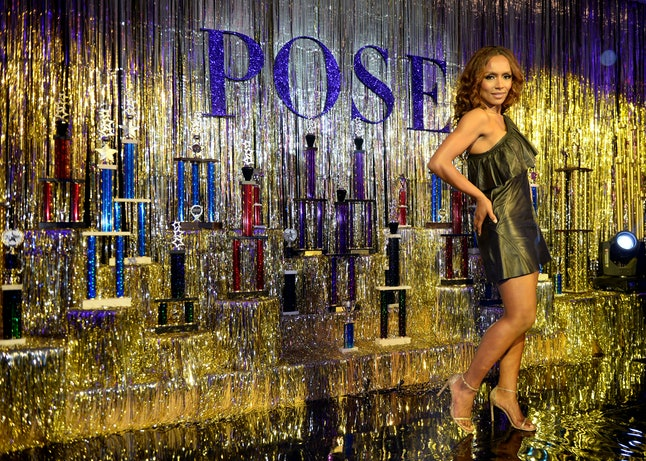 Janet Mock attends the FX 'Pose' Ball in Harlem in New York City.