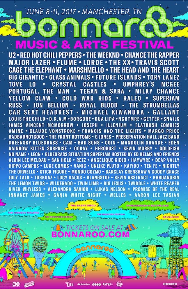 Bonnaroo lineup poster 2017