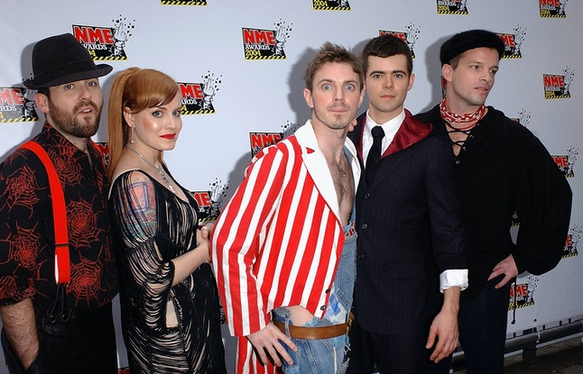The Scissor Sisters arrive at the NME Awards in 2004