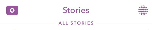 """Going to the """"All Stories"""" tab will show every story available to view and users can re-watch snap stories."""