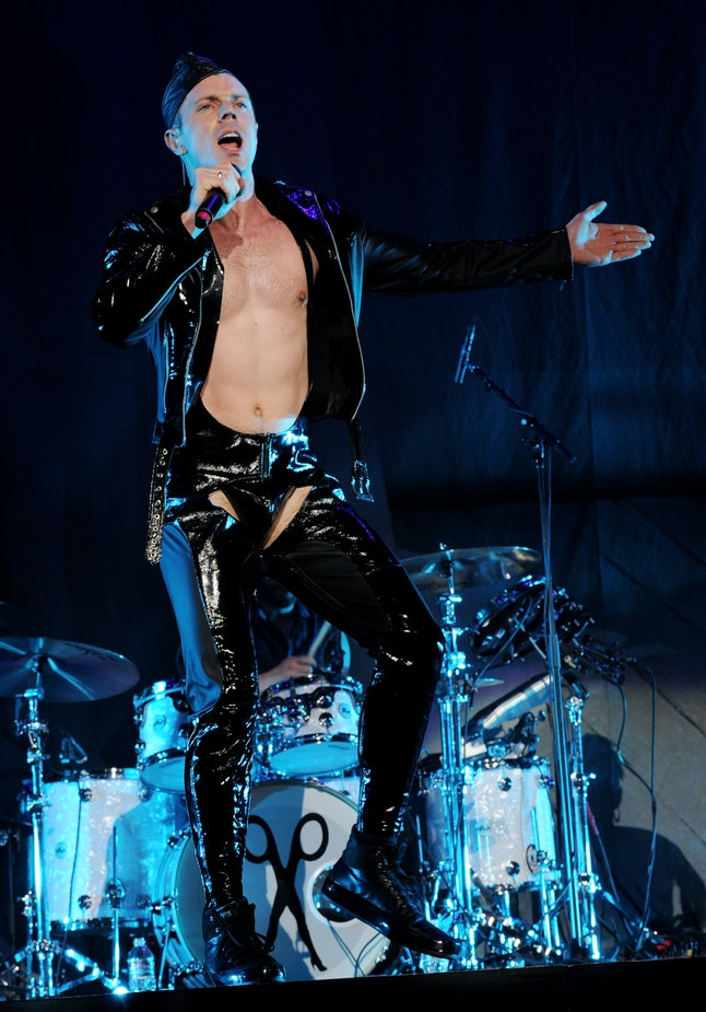 Jake Shears performs at the Staples Center on March 28, 2011.