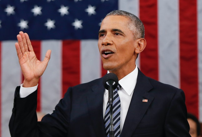 President Barack Obama delivered his final State of the Union, as seen here.