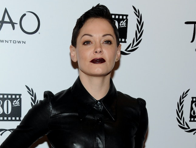Actress Rose McGowan could theoretically face legal consequences over her tweets, but it's still unlikely.