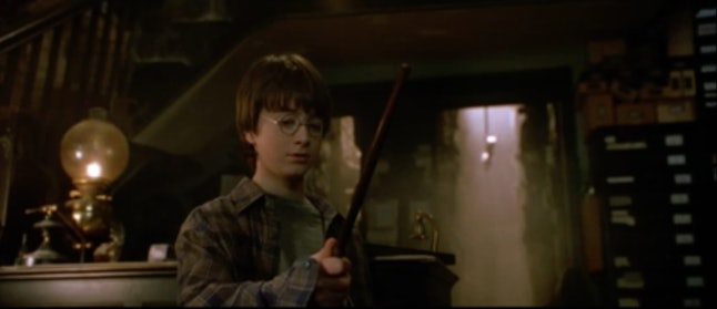 A screenshot from the official extended 'Sorcerer's Stone' trailer.