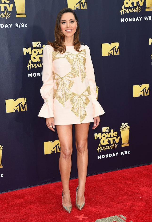 Aubrey Plaza at the 2018 MTV Movie and TV Awards
