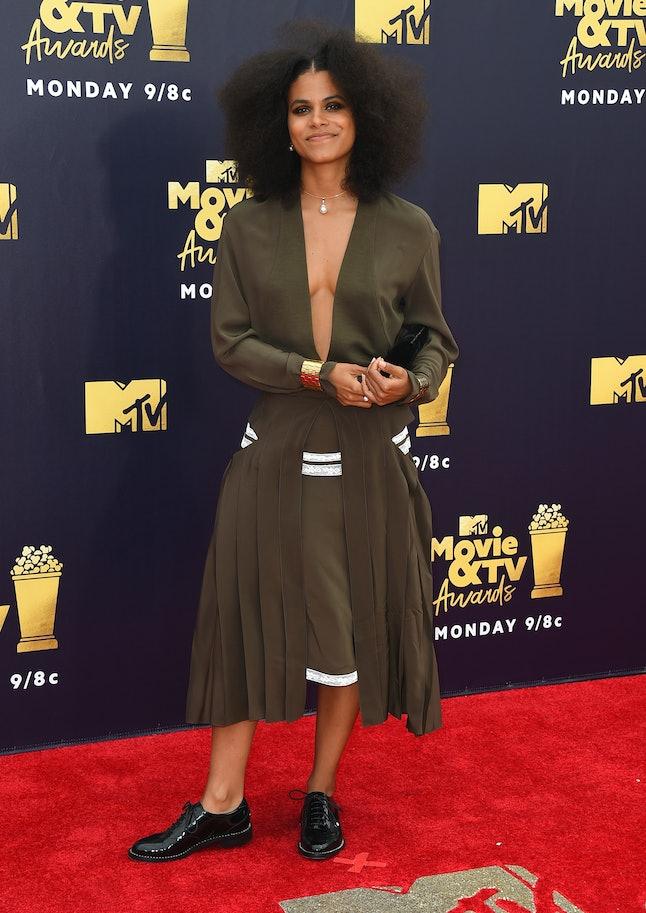 Zazie Beetz at the 2018 MTV Movie and TV Awards