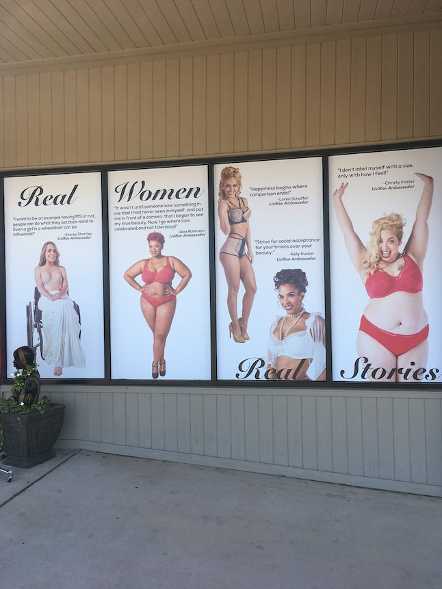 Livi Rae Lingerie's Valentine's Day campaign, seen outside of its store