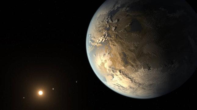Illustration of an exoplanet