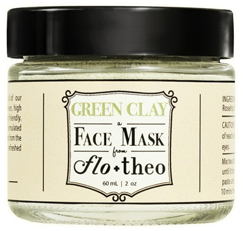 Flo and Theo Green Clay Face Mask
