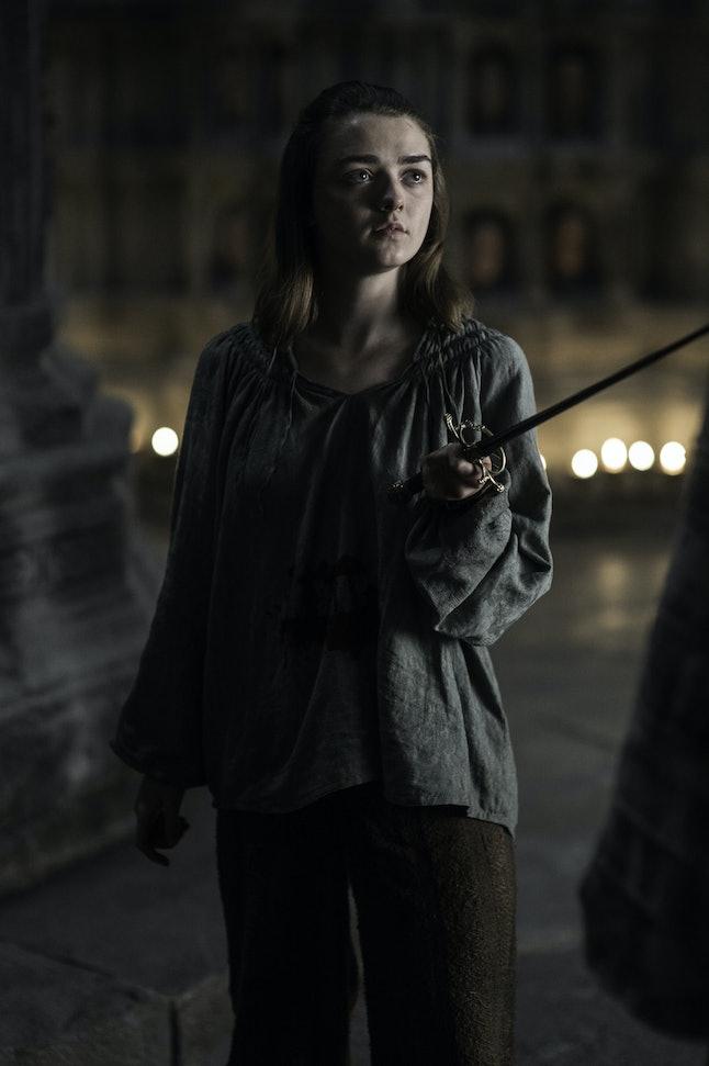 A girl is Arya Stark of Winterfell.