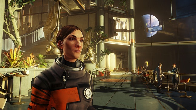 The art direction in 'Prey' is a neat mix of retrofuturist sci-fi and other styles.