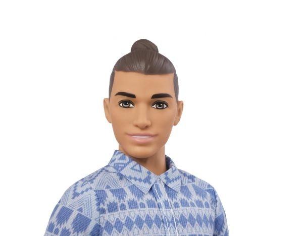 A Ken doll with a man bun
