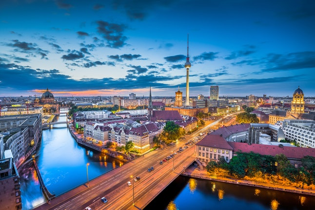 Berlin's skyline — featuring the famed Fernsehturm de Berlin, or Berlin TV Tower
