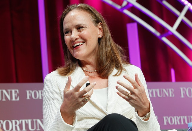 CEO of the Center for a New American Security and Former Undersecretary of Defense for Policy Michèle Flournoy speaks onstage during a 'Fortune'-sponsored Most Powerful Women Summit.