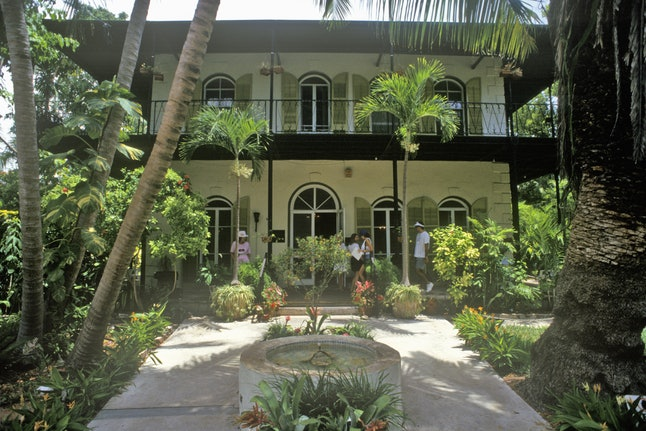 The Ernest Hemingway House and Museum in Key West, Florida
