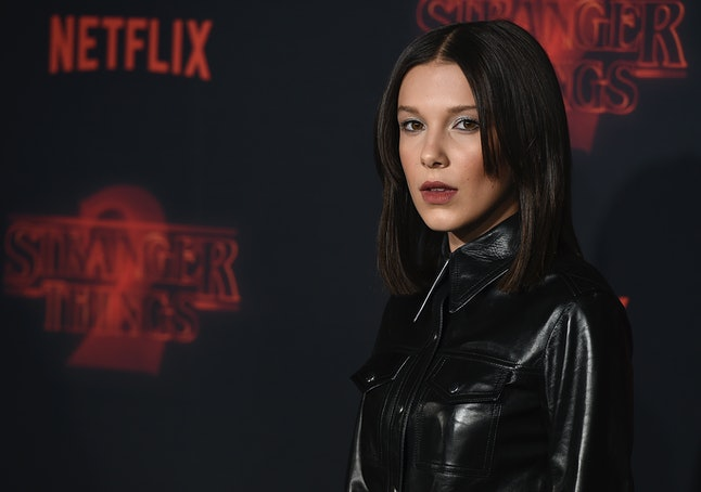 Millie Bobby Brown at the 'Stranger Things' premiere in October