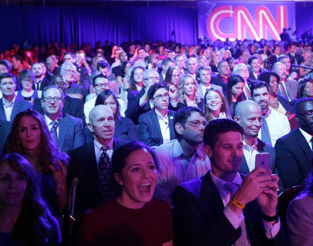 An audience at the debate on Tuesday