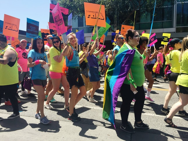 Participants of the Los Angeles Pride Festival