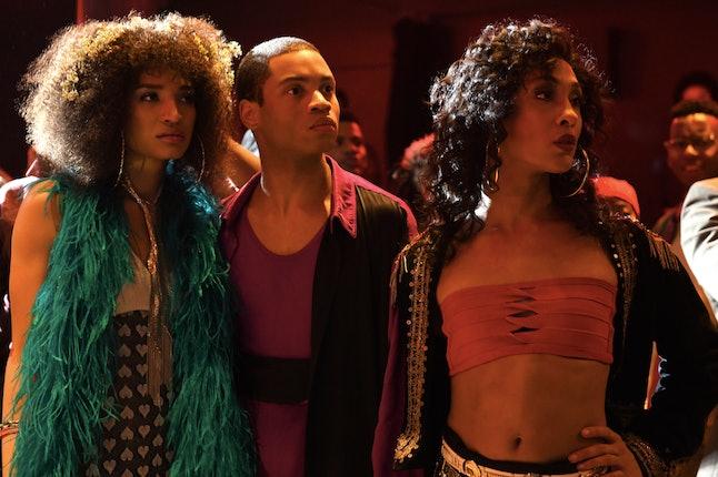 Indya Moore as Angel, Ryan Jamaal Swain as Damon and Mj Rodriguez as Blanca on 'Pose'