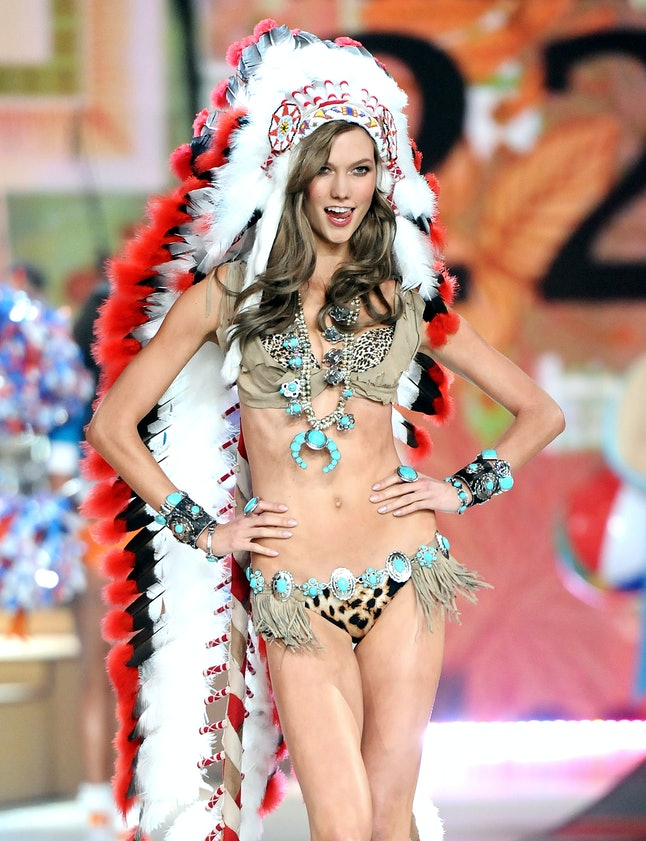 Model Karlie Kloss walks the runway during the 2012 Victoria's Secret Fashion Show on Wednesday Nov. 7, 2012 in New York.