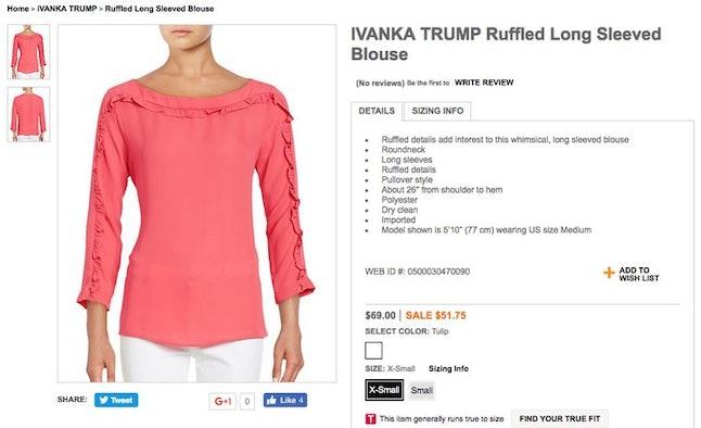 An Ivanka Trump top