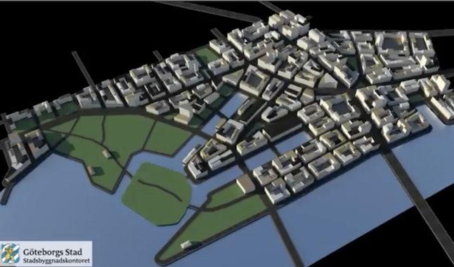 A 3-D model replication of Gothenburg, Sweden.