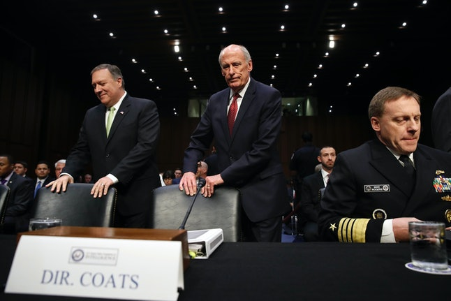 CIA Director Mike Pompeo and Director of National Intelligence Dan Coats