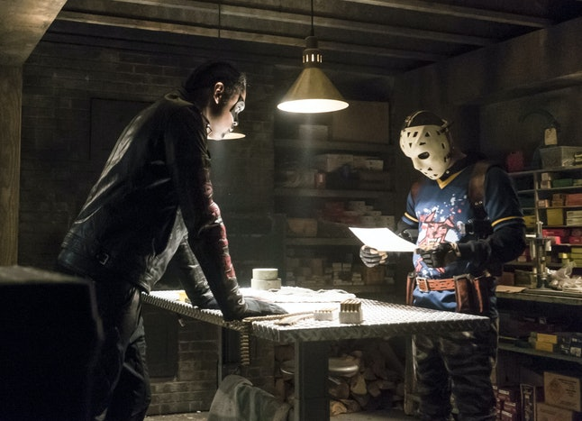 Mister Terrific and Wild Dog in 'Arrow'.