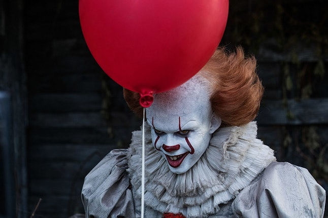 Bill Skarsgård's Pennywise, not available for birthday parties.