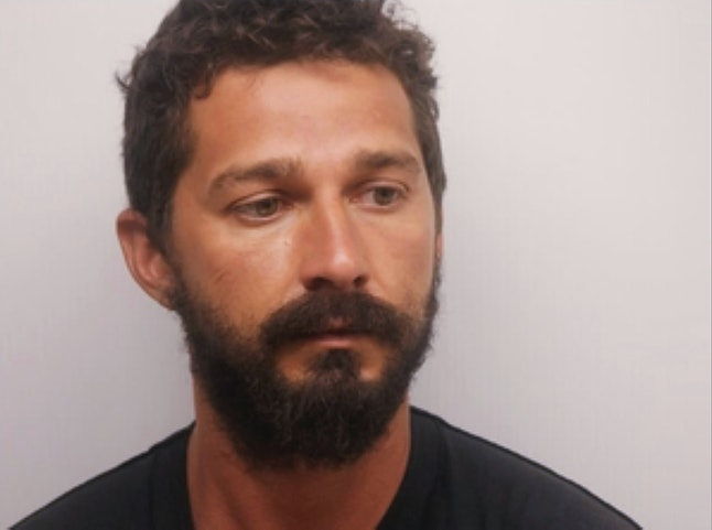LaBeouf's booking photo from Saturday, released by the Chatham County Sheriff's Office in Savannah, Georgia