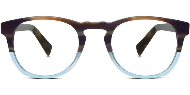 Warby Parker Topper Frames in River Stone Blue Fade