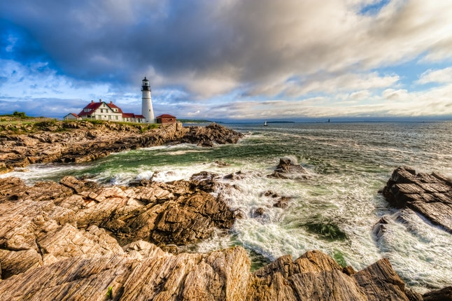 Majestic and stunning, the Portland Head Light stands proud.