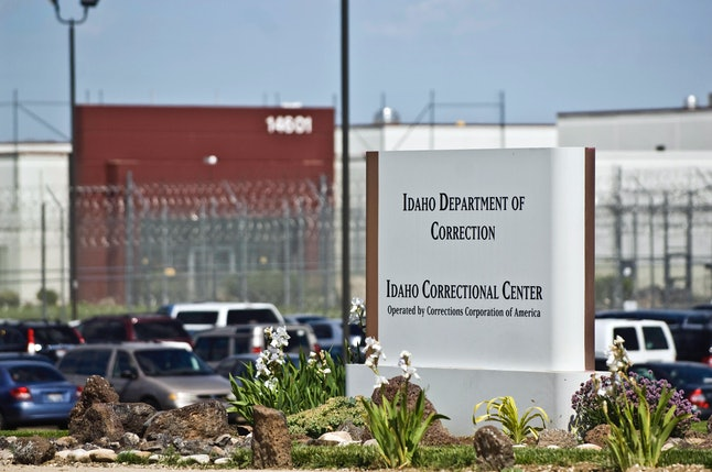 The Idaho Correctional Center is shown south of Boise, Idaho, where it is operated by Corrections Corporation of America.