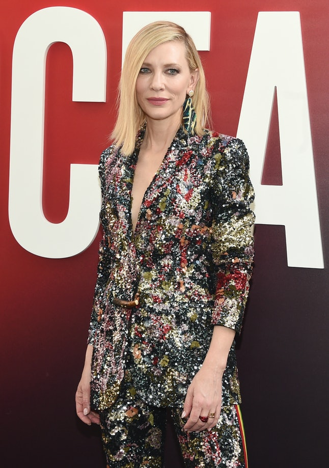 Cate Blanchett attends the world premiere of 'Ocean's 8'