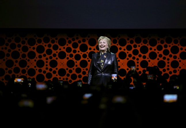Hillary Clinton at the Professional BusinessWomen of California conference on Tuesday in San Francisco