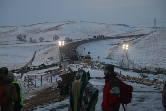 The road into Oceti Sakowin Camp