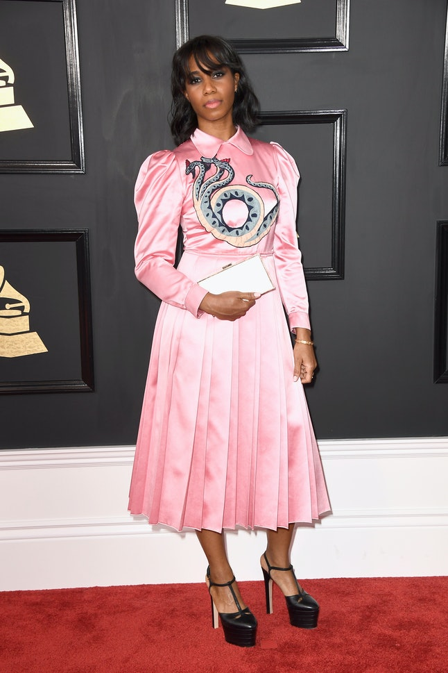 Santigold attends The 59th GRAMMY Awards at STAPLES Center on February 12, 2017