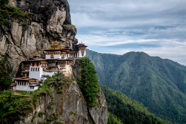 Bhutan's famous Tiger's Nest monastery in the Paro Valley
