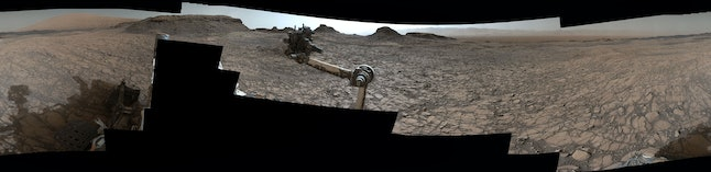 The latest shot composites from NASA's Curiosity Mars rover