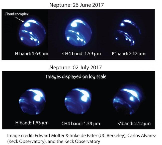 Source:  N. Molter/I. De Pater, UC Berkeley & C. Alvarez, W. M. Keck Observatory
