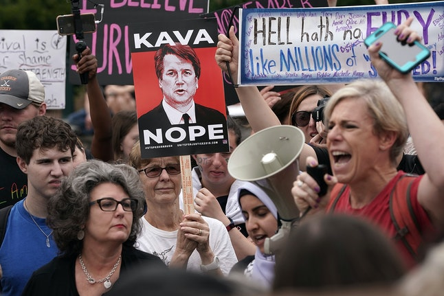Protesters rally against the confirmation of Supreme Court nominee Judge Brett Kavanaugh in Washington, D.C.