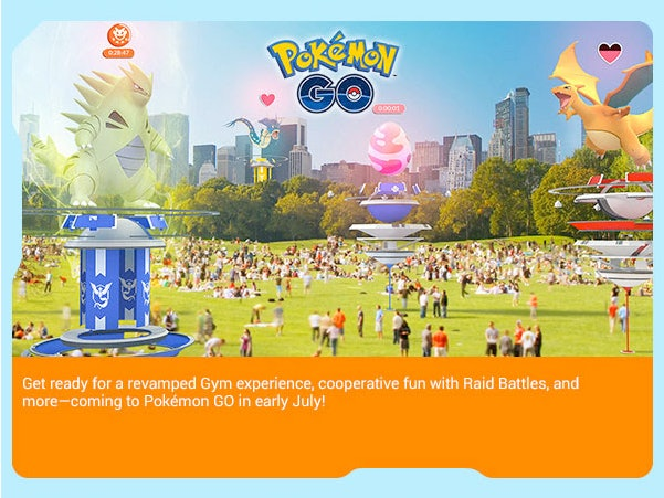 Pokémon Go under construction gyms are coming next month