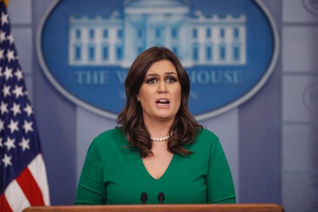 "White House press secretary Sarah Huckabee Sanders tells reporters Thursday that President Donald Trump ""believed Putin believed"" his election meddling denials."