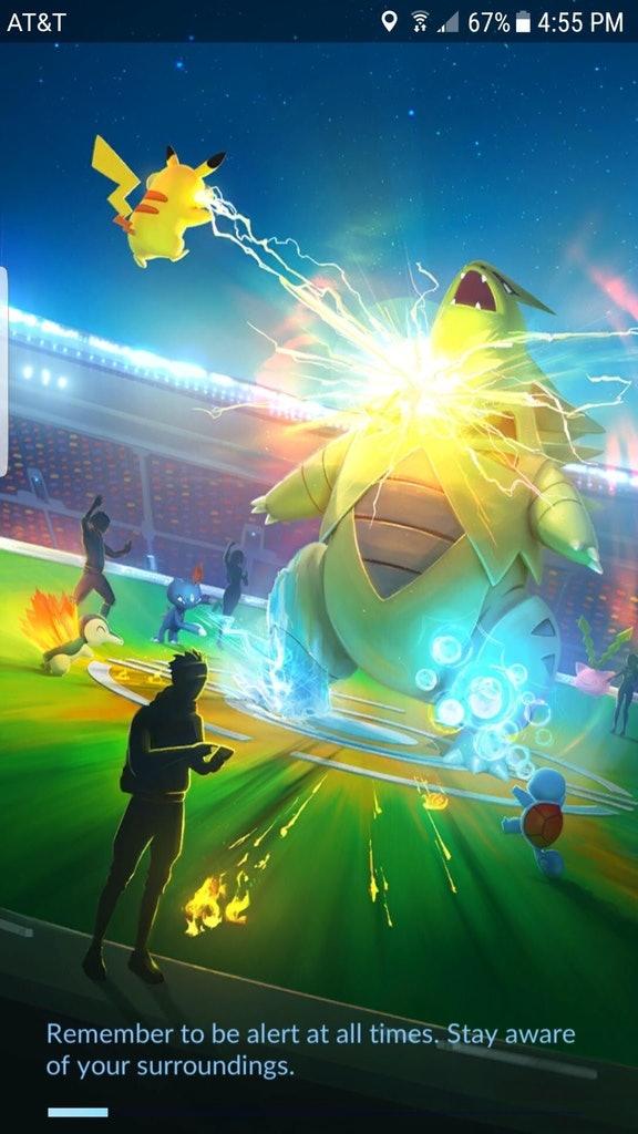 Pokémon Go update brings a new load screen.