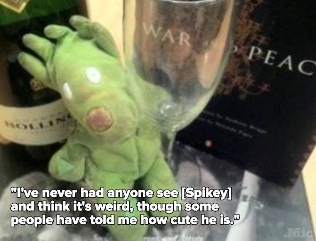 Jen's stuffed animal, Spikey