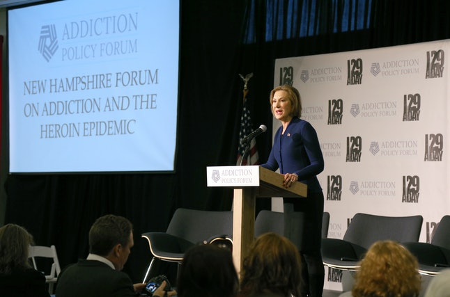 Carly Fiorina, above, lost her stepdaughter to addiction.